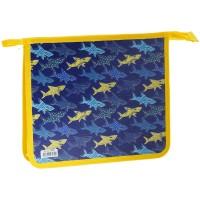 Папка для тетрадей А5 1 отделение ArtSpace Shark, пластик, на молнии