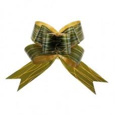Бант-бабочка №5 Линии, цвет зелёный
