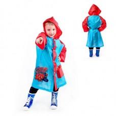 Дождевик детский в чехле Супергерой Человек-паук , размер L, рост 110-120 см