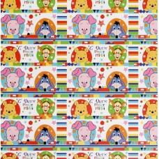 Бумага упаковочная глянцевая С Днем Рождения, 70*100 см, Медвежонок Винни и его друзья