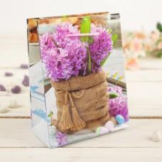 Пакет подар. (мал.) Сиреневый букет, 12*5*15 см