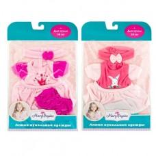 Одежда для куклы 30 см: платье, штанишки и повязка, в ассорт.
