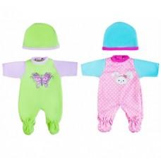 Одежда для куклы 30 см, комбинезон с шапочкой 452120, в ассорт.