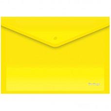 Папка-конверт на кнопке А4 Berlingo, 180мкм, желтая