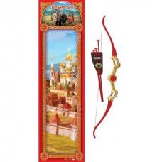 Лук ИГРАЕМ ВМЕСТЕ Три богатыря со стрелами на присосках, на карт. 68*20см