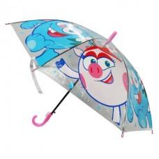 Зонт дет. ИГРАЕМ ВМЕСТЕ Смешарики прозрачный, 50 см