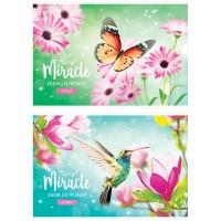 Альбом 24л А4 на скрепке Цветы. Miracle, обложка-офсет