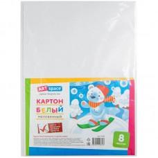 Картон белый A4 8л, мелованный, в пакете