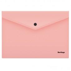 Папка-конверт на кнопке А4 Berlingo Instinct, 180мкм, фламинго
