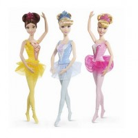 Кукла-балерина Disney Princess Золушка/Бэлль/Аврора