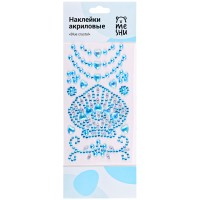 Наклейки акриловые MESHU Blue crystal, 10*24см