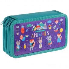 Пенал 3 отделения 190*110 ArtSpace Animals, ламинированный картон