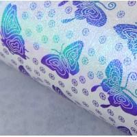 Бумага упаковочная перламутровая Бабочки-красавицы, 50*70 см