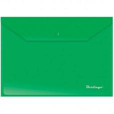 Папка-конверт на кнопке А4 Berlingo, 180мкм, зеленая