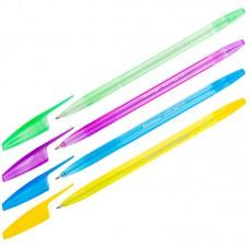 Ручка шарик. синяя 1мм H-20 Neon, корпус ассорти