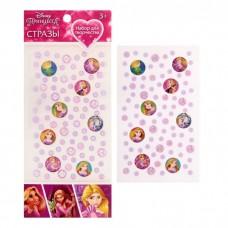Наклейка пластик стразы Принцессы: Рапунцель, 23*10 см