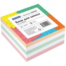 Блок для записи на склейке OfficeSpace, 8*8*4см, цветной