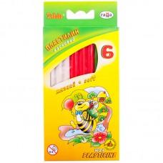 Пластилин 06 цв. Гамма Пчелка, восковой, со стеком