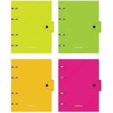 Тетрадь на кольцах А5 80л Erich Krause Glance Neon, пластиковая обложка, на кнопке