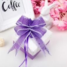 Бант-бабочка №2,3 Блестящая сетка, цвет фиолетовый