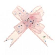 Бант-бабочка №2,5 Ромашки, цвет розовый