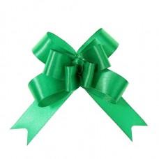Бант-бабочка № 1,8 атласный, цвет зелёный