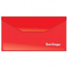 Папка-конверт на кнопке С6 Berlingo, 180мкм, красная