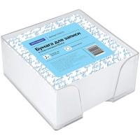 Блок для записи OfficeSpace, 9*9*4,5см, пластиковый бокс, белый