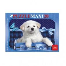 Пазл 20 эл. maxi Hatber Белый щенок