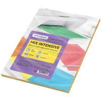 Бумага для принтера цветная Officespace Intensive mix А4, 80г/м2, 100л. (5 цветов)
