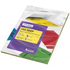 Бумага для принтера цветная OfficeSpace deep mix А4, 80г/м2, 100л. (4 цвета)