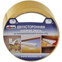 Клейкая лента двусторонняя Unibob, 38мм*10м, полипропилен