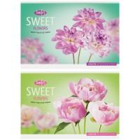 Альбом 32л А4 на скрепке Цветы. Sweet flower