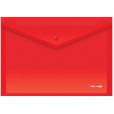 Папка-конверт на кнопке А4 Berlingo, 180мкм, красная