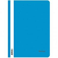 Папка-скоросшиватель пластик А4 Berlingo 180мкм, синяя с прозр. верхом