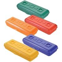 Пенал-футляр 210*90*40 Стамм Премиум, пластик, ассорти
