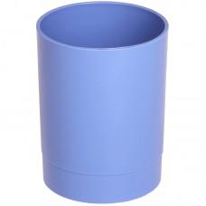Подставка-стакан Стамм Офис. Voyage. Berlin, пластик, круглый, голубой