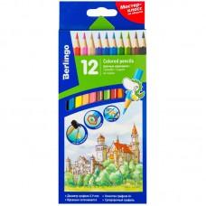 Цветные карандаши 12 цв. Berlingo Замки, заточен.