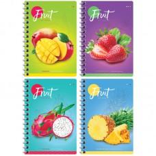 Блокнот А6 80л на гребне Фрукты. Colorful fruits