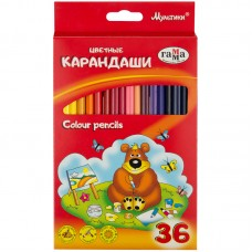 Цветные карандаши 36 цв. Гамма Мультики, трехгранные, заточен.