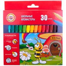 Фломастеры 30 цв. Koh-I-Noor Пчелка, трехгранные, смываемые