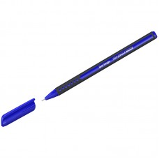Ручка шарик. синяя 0,7мм Berlingo Triangle Twin, игольчатый стержень