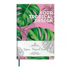 Записная книжка А5 80л ЛАЙТ, кожзам, Greenwich Line Vision.Tropicaltrend, тон. блок, цв. срез