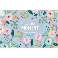 Альбом 40л А4 на скрепке Цветы. Live the moment