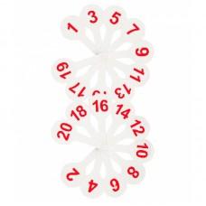 Веер-касса цифр от 1 до 20, Стамм