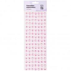 Наклейки акриловые MESHU Pink pearls, 10*32см