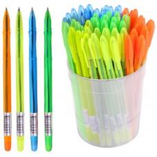 Ручка шарик. синяя 0,7мм Стамм VeGa. Neon Crystal, ассорти