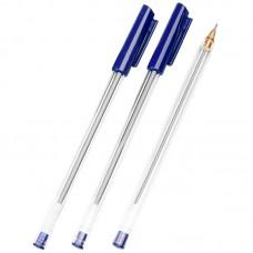 Ручка шарик. синяя 0,7мм Стамм РШ 800, прозрачный корпус
