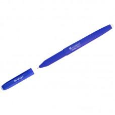 Ручка гелевая стираемая Correct синяя, 0,6мм, прорезин. корпус