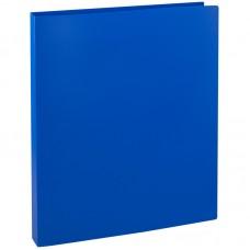 Папка на 2-х кольцах OfficeSpace, 27мм, 500мкм, синяя